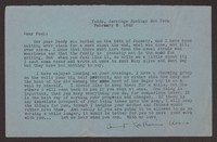 Letter from Katherine Anne Porter to Paul Porter Jr., February 06, 1942