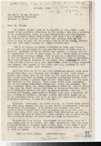 Letter from Katherine Anne Porter to Gay Porter Holloway, July 30, 1950