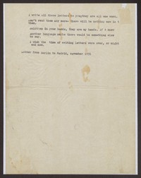 Letter from Katherine Anne Porter to Eugene Pressly, circa November 1931