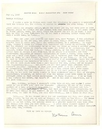 Letter from Katherine Anne Porter to George Platt Lynes, May 22, 1943