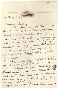 Letter from Katherine Anne Porter to Monroe Wheeler, May 10, 1952