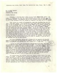 Letter from Katherine Anne Porter to Glenway Wescott, February 07, 1963