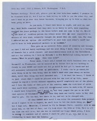 Letter from Katherine Anne Porter to Barbara Harrison Wescott, May 16, 1962