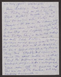 Letter from Katherine Anne Porter to Ann Holloway Heintze, May 23, 1965