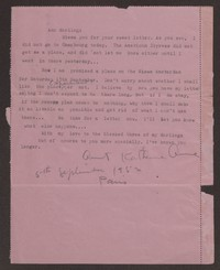 Letter from Katherine Anne Porter to Ann Holloway Heintze, September 05, 1952
