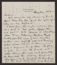 Letter from Katherine Anne Porter to Albert Erskine, May 01, 1939