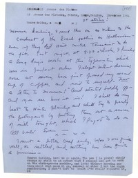 Letter from Katherine Anne Porter to Monroe Wheeler, November 02, 1954