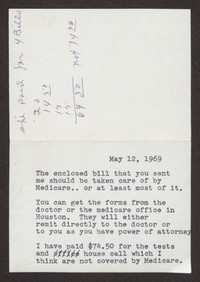 Letter from Katherine Anne Porter to Mary Alice Porter Hillendahl, May 12, 1969
