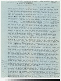 Letter from Katherine Anne Porter to Gay Porter Holloway, June 23, 1952