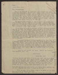 Letter from Katherine Anne Porter to Breckenridge Porter Sr., April 15, 1930
