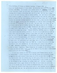 Letter from Katherine Anne Porter to James Stern and Tania Stern, August 09, 1963