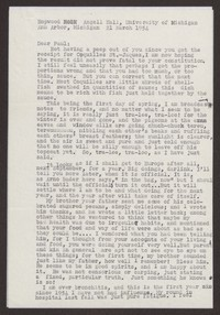 Letter from Katherine Anne Porter to Paul Porter Jr., March 21, 1954