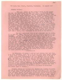 Letter from Katherine Anne Porter to Glenway Wescott, August 10, 1949