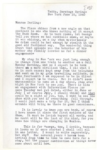 Letter from Katherine Anne Porter to Monroe Wheeler, June 12, 1940