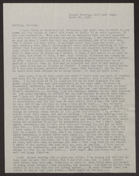 Letter from Katherine Anne Porter to Albert Erskine, March 20, 1938