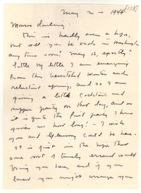 Letter from Katherine Anne Porter to Monroe Wheeler, May 02, 1944