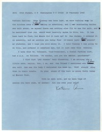 Letter from Katherine Anne Porter to Barbara Harrison Wescott, February 16, 1966