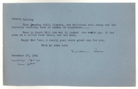 Letter from Katherine Anne Porter to Donald Elder, December 27, 1941
