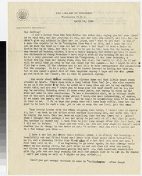 Letter from Katherine Anne Porter to Gay Porter Holloway, April 14, 1944