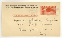 Letter from Katherine Anne Porter to Monroe Wheeler, May 28, 1949