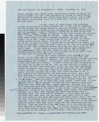 Letter from Katherine Anne Porter to Gay Porter Holloway, September 11, 1965