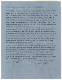 Letter from Katherine Anne Porter to Eudora Welty, October 19, 1961