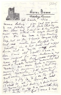 Letter from Katherine Anne Porter to Monroe Wheeler, November 01, 1956
