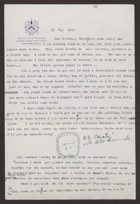 Letter from Katherine Anne Porter to Ann Holloway Heintze, May 13, 1958