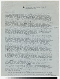 Letter from Katherine Anne Porter to Gay Porter Holloway, February 20, 1952