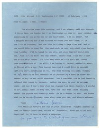 Letter from Katherine Anne Porter to William Humphrey, February 10, 1966