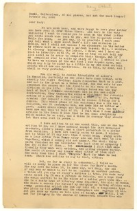 Letter from Katherine Anne Porter to Mary Louis Doherty, October 25, 1932