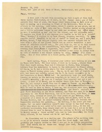 Letter from Katherine Anne Porter to Peggy Cowley, January 30, 1933