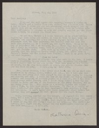 Letter from Katherine Anne Porter to Albert Erskine, July 25, 1939