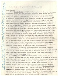 Letter from Katherine Anne Porter to Eudora Welty, February 20, 1956
