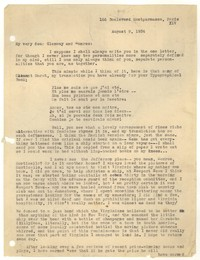 Letter from Katherine Anne Porter to Monroe Wheeler and Glenway Wescott, August 09, 1934
