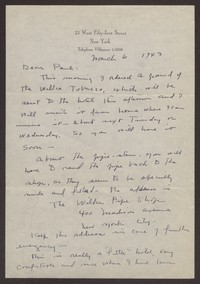 Letter from Katherine Anne Porter to Paul Porter Jr., March 06, 1943