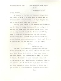 Letter from Katherine Anne Porter to George Platt Lynes, November 25, 1944
