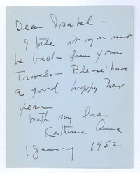 Letter from Katherine Anne Porter to Isabel Bayley, January 01, 1952