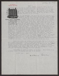 Letter from Katherine Anne Porter to Albert Erskine, October 25, 1940