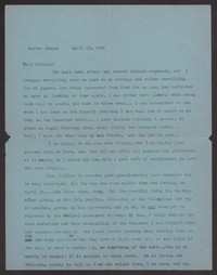 Letter from Katherine Anne Porter to Albert Erskine, April 13, 1941