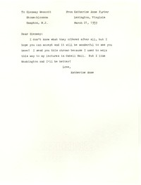 Letter from Katherine Anne Porter to Glenway Wescott, March 21, 1959