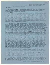 Letter from Katherine Anne Porter to Glenway Wescott, April 19, 1942