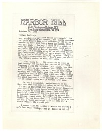 Letter from Katherine Anne Porter to George Platt Lynes, October 16, 1943