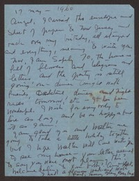 Letter from Katherine Anne Porter to Ann Holloway Heintze, May 17, 1960