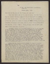 Letter from Katherine Anne Porter to Family, January 08, 1935
