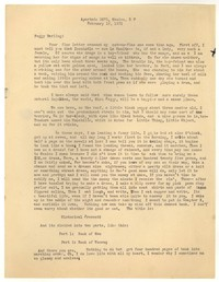 Letter from Katherine Anne Porter to Peggy Cowley, February 18, 1931