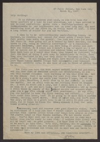 Letter from Katherine Anne Porter to Lily Cahill, March 31, 1937