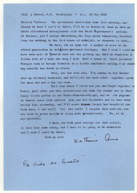 Letter from Katherine Anne Porter to Barbara Harrison Wescott, May 10, 1960