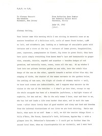 Letter from Katherine Anne Porter to Glenway Wescott, June 18, 1962