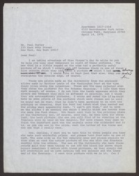 Letter from Katherine Anne Porter to Paul Porter Jr., April 14, 1975
